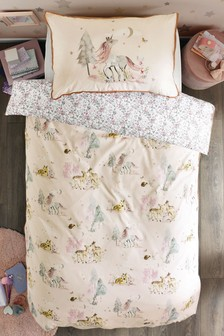 Pink Magical Woodland Duvet Cover and Pillowcase Set