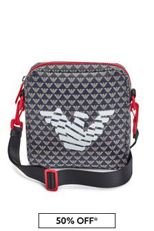 Emporio Armani Navy Messenger Bag