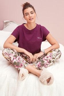 Berry Floral Cotton Pyjamas