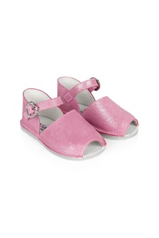 Andanines Baby Girls Pink Leather Sandals