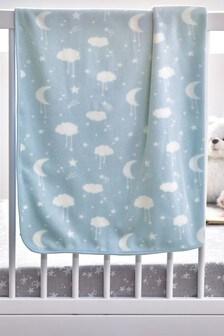Blue Supersoft Fleece Blanket