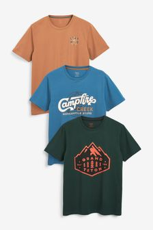 Mountain Mix Graphic T-Shirts 3 Pack