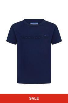 Jacob Cohen Boys Navy Cotton T-Shirt