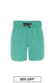 DKNY Boys Blue Swim Shorts