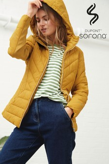 Ochre Shower Resistant Hooded Jacket With DuPont™ Sorona® Insulation