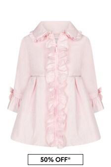 음발로 걸스 핑크 코트