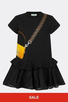 Fendi Kids Girls Cotton Dress
