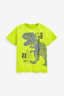 Lime T-Rex Dinosaur T-Shirt (3-16yrs)