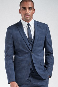 Bright Blue Check Suit: Jacket