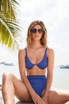 Cobalt Textured Bikini Top