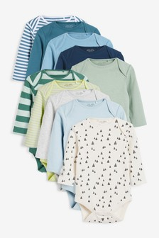 Multi 10 Pack Long Sleeve Bodysuits (0mths-3yrs)