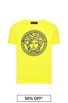 Versace 보이즈 코튼 티셔츠