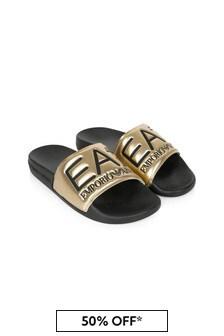 EA7 Emporio Armani Boys Gold Sandals