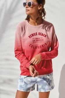 Pink Dip Dye California Graphic Sweatshirt