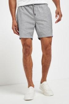 Grey Drawstring Waist Dock Shorts