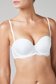 White Push-Up Triple Boost Multiway Mimi Bra