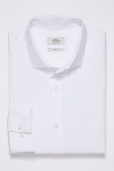 White Mini Collar Shirt