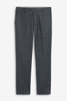 Blue Signature Check Slim Fit Suit