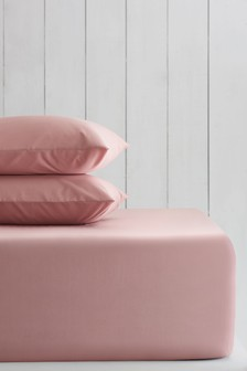 Sunbaked Pink Sunbaked Pink Cotton Rich Extra Deep Fitted Sheet