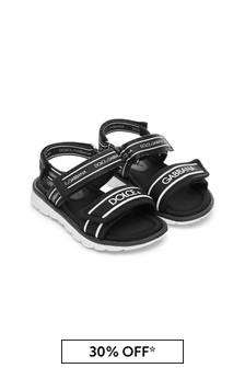 Dolce & Gabbana Kids Baby Black Leather Sandals