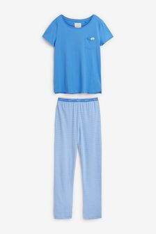 Cobalt Stripe Cotton Pyjamas