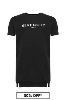 Givenchy 키즈 걸스 코튼 블렌드 드레스