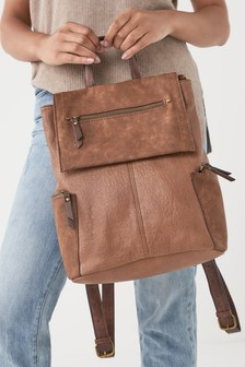 Tan Utility Style Rucksack