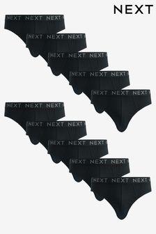 Black Briefs Ten Pack