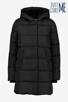 Black Mid Shower Resistant Padded Jacket