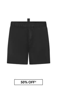 Dsquared2 Kids Boys Black  Swim Shorts