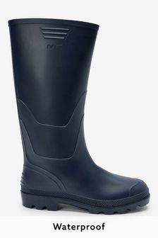 Navy Wellington Boots
