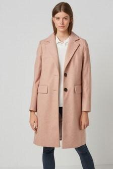 Pink Revere Collar Coat