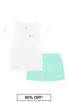 Nike 걸스 화이트 세트
