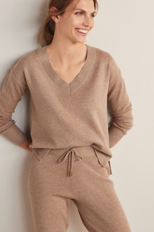 Taupe Cosy Co-ord Jumper