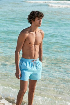 Coral Geo/Blue Swim Shorts Two Pack