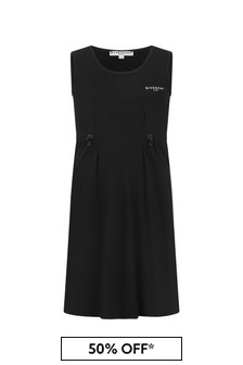Givenchy Kids Girls Black Cotton Dress