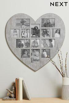 Grey Heart Shaped Multi Aperture Frame