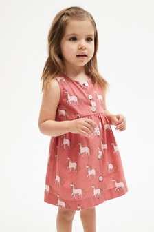 Rust Unicorn Printed Organic Cotton Dress (3mths-7yrs)