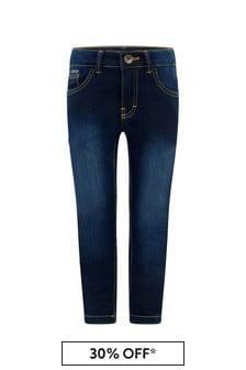 Boss Kidswear Boys Blue Rinse Skinny Fit Jeans
