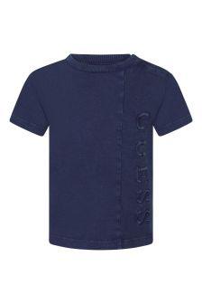 Guess Boys Blue Cotton T-Shirt