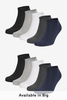 Mixed Trainer Socks Ten Pack