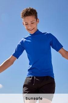 Cobalt Short Sleeve Sunsafe Rash Vest (1.5-16yrs)