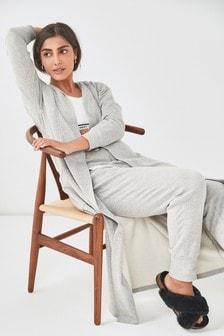 Grey Cosy Cardigan Robe