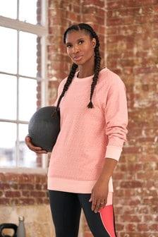 Pink Logo Longline Sweatshirt