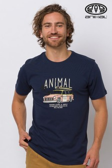 Claw Mens Animal Surf Clothing T-Shirt Indigo Blue -Tee Shirts