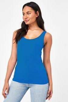 Cobalt Blue Thick Strap Vest