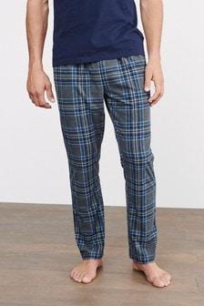 Grey/Blue Motion Flex Cosy Pyjama Bottoms