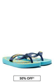 Havaianas Boys Blue Minions Flip Flops