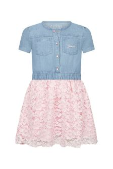 Guess Girls Blue Cotton Dress