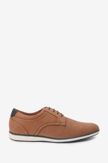 Tan Smart Casual Derby Shoes